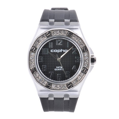 <img class='new_mark_img1' src='https://img.shop-pro.jp/img/new/icons20.gif' style='border:none;display:inline;margin:0px;padding:0px;width:auto;' />COPHA LADY AP Silicone Strap Black-Silver×Black(コプハ レディエーピー シリコンストラップ ブラック-シルバー×ブラック)