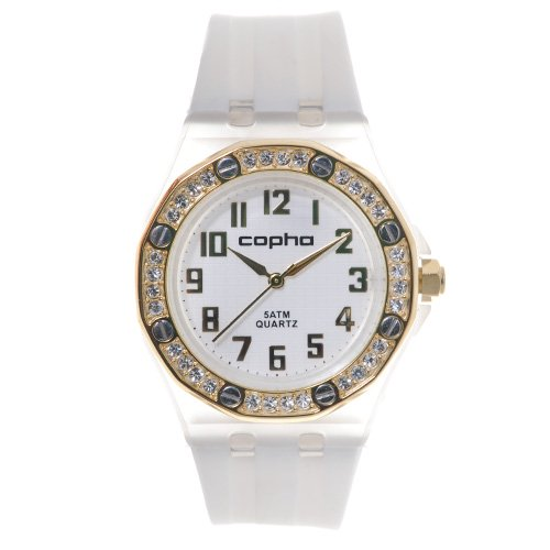 <img class='new_mark_img1' src='https://img.shop-pro.jp/img/new/icons20.gif' style='border:none;display:inline;margin:0px;padding:0px;width:auto;' />COPHA LADY AP Silicone Strap White-Gold×White(コプハ レディエーピー シリコンストラップ ホワイト-ゴールド×ホワイト)