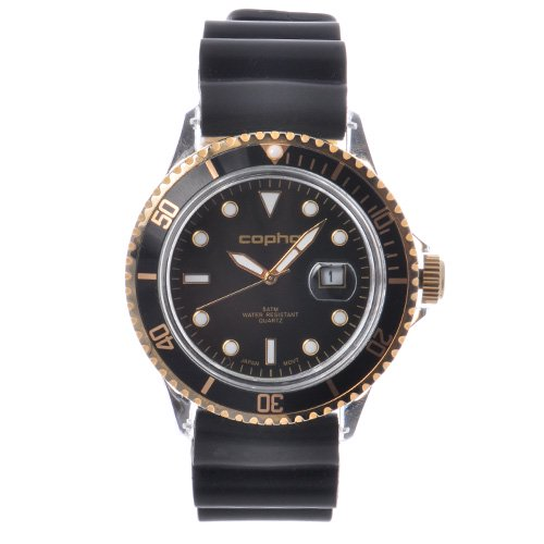 <img class='new_mark_img1' src='https://img.shop-pro.jp/img/new/icons20.gif' style='border:none;display:inline;margin:0px;padding:0px;width:auto;' />COPHA BRX Rubber Strap Black-Gold×Black(コプハ ビーアールエックス ラバーストラップ ブラック-ゴールド×ブラック)