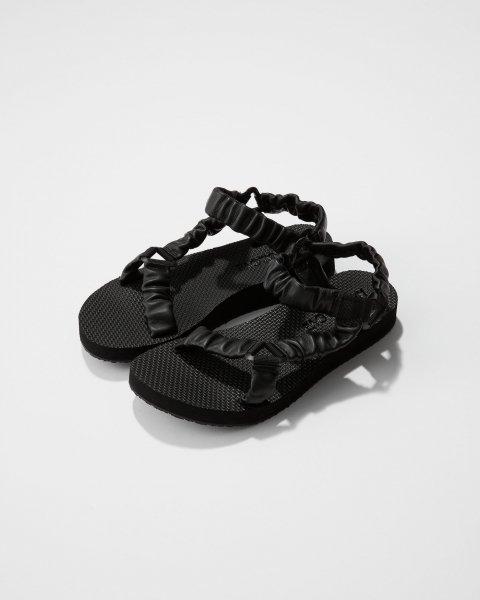 サンダル | ブラックレザー - ¥16,170