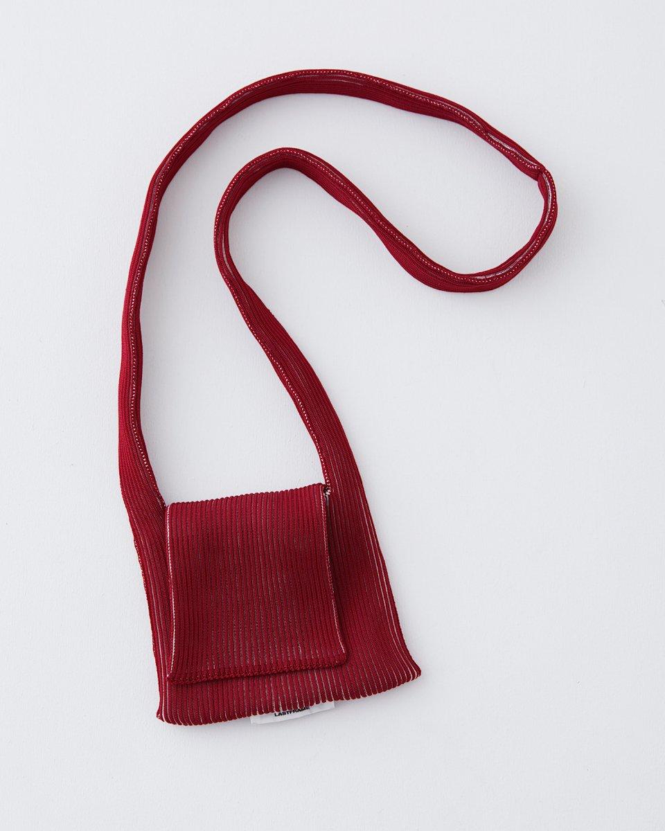 LAST FRAME フラップバッグ バーガンディ x アイボリー - ¥17,600