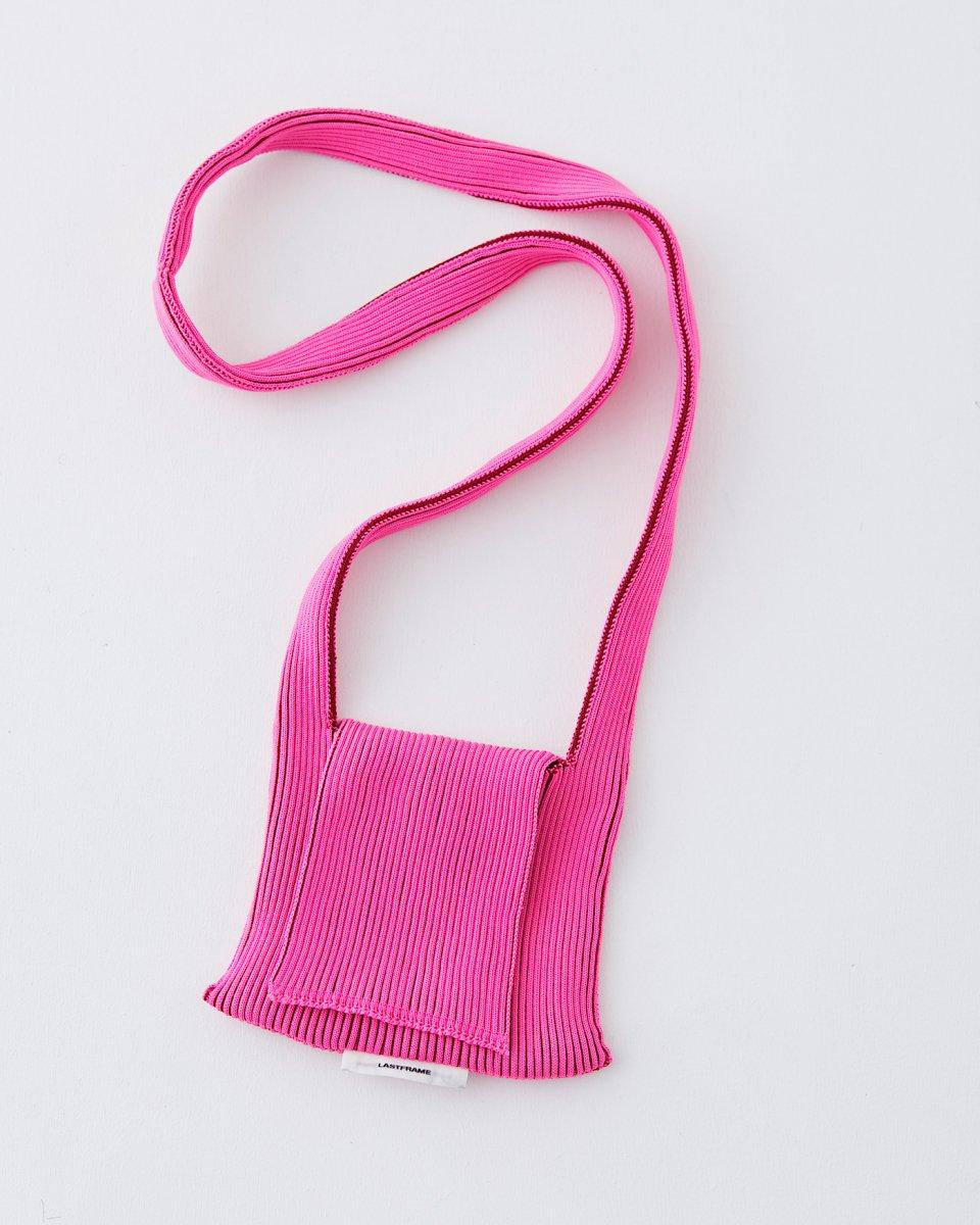 LAST FRAME フラップバッグ ピンク x バーガンディ - ¥16,000