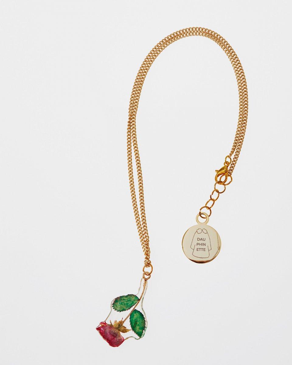 小さいバラのつぼみのネックレス - ¥8,250