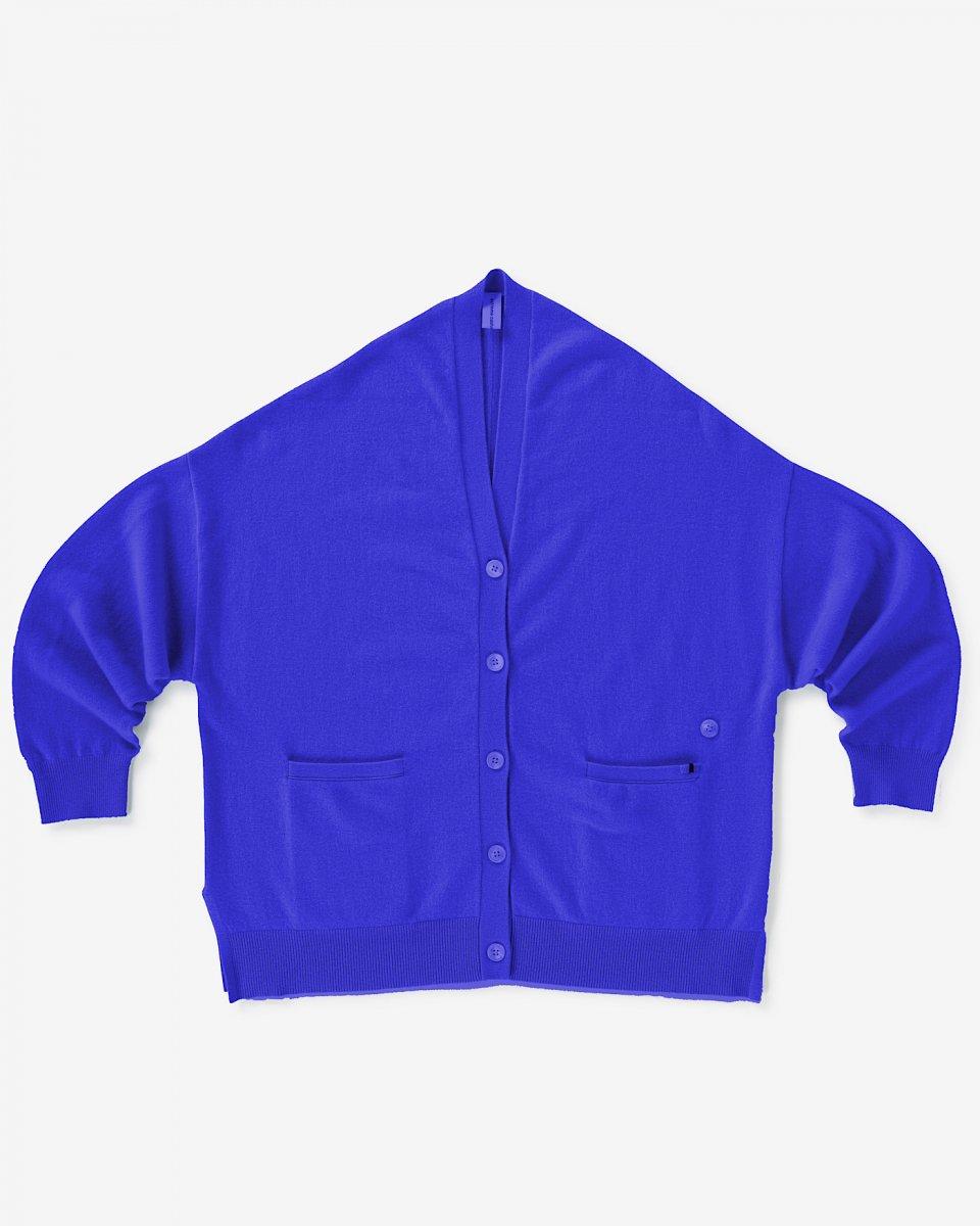 カシミアオーバーサイズカーディガン ブルー - ¥70,000