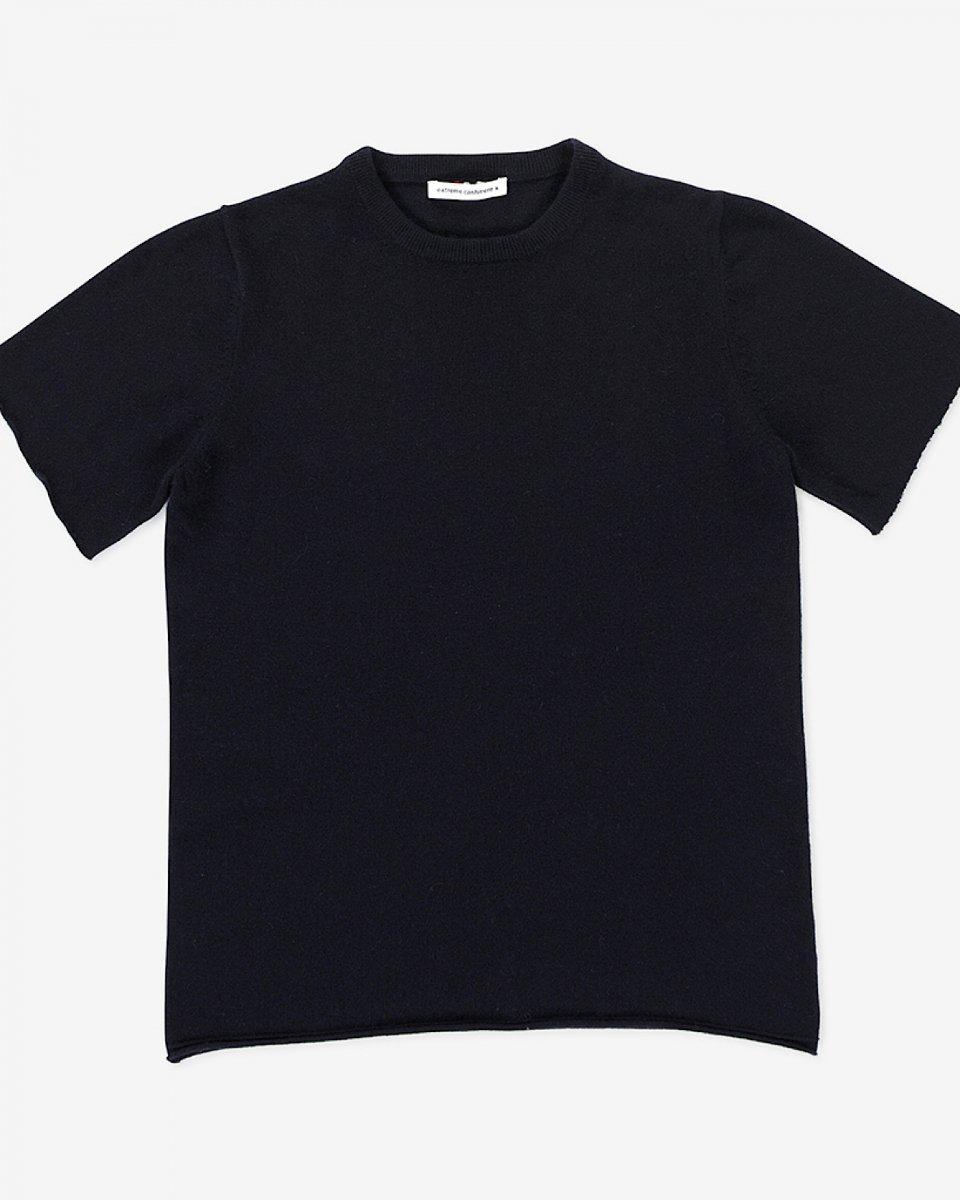 カシミアTシャツ ネイビー - ¥38,500