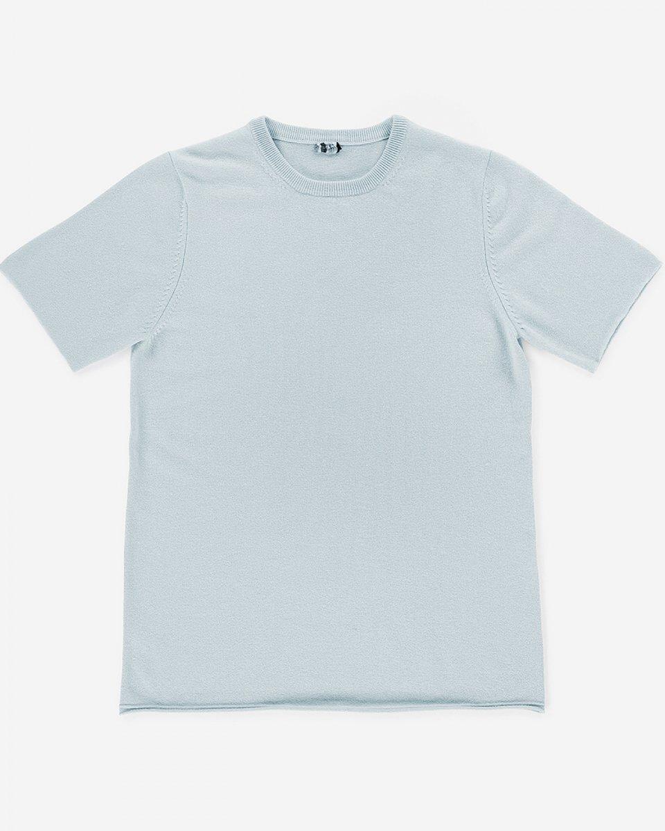 カシミアTシャツ ベビーブルー - ¥35,000