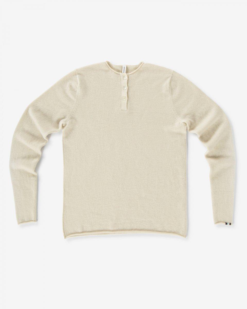 カシミアヘンリーネックプルオーバー オフホワイト - ¥49,500