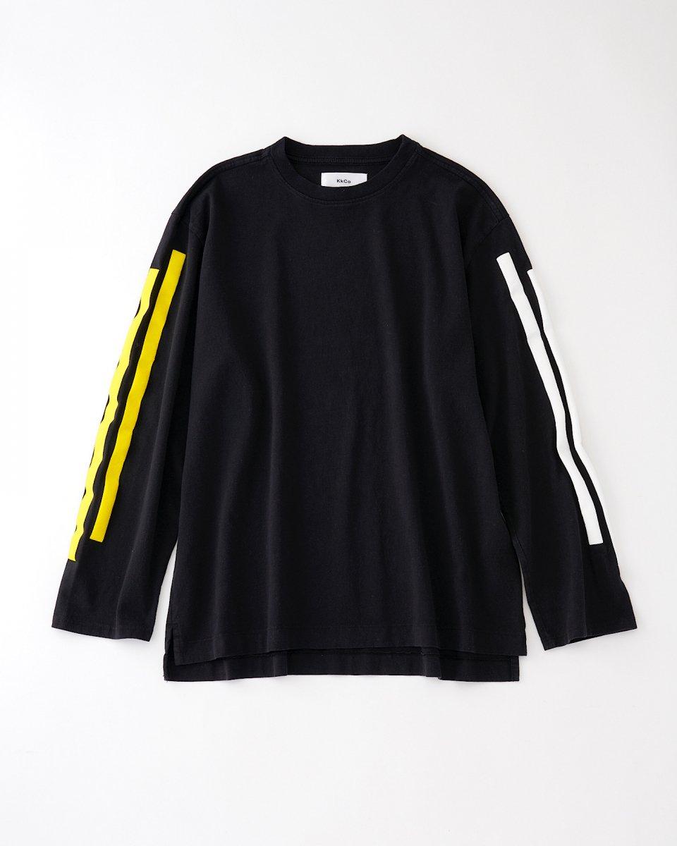 2ラインロングTシャツ 黒 - ¥17,600