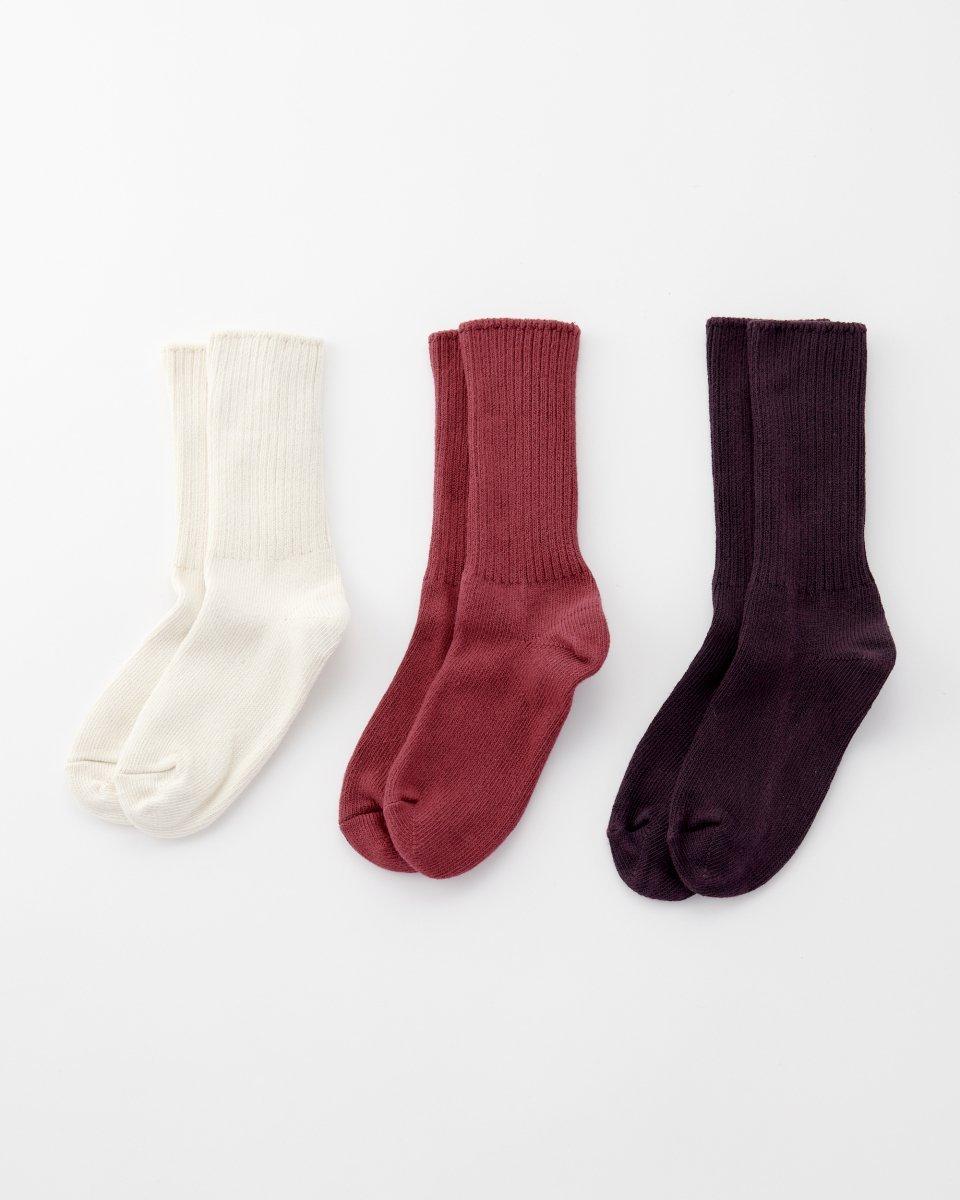 オーガニックコットン靴下 3足パック「白とベリー」 - ¥4,100
