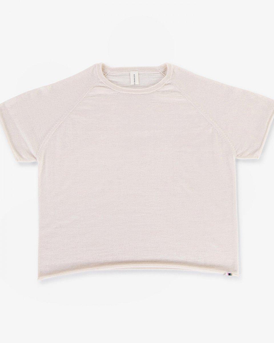 カシミアラグランTシャツ ミルク - ¥26,400