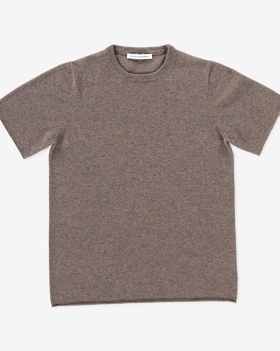 カシミアTシャツ ベージュグレー - ¥38,500