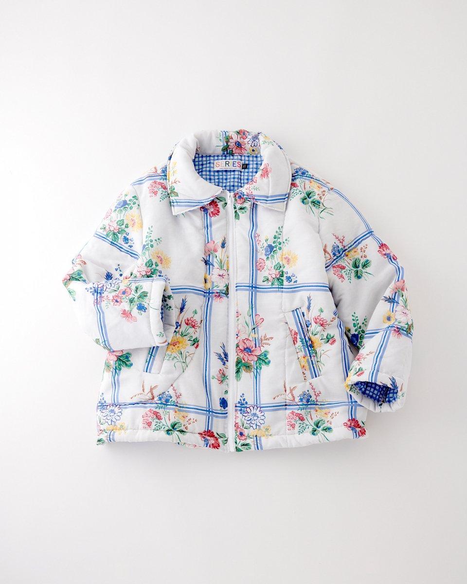 THE SERIES パフジャケット「花束とチェック柄と」 - ¥38,500