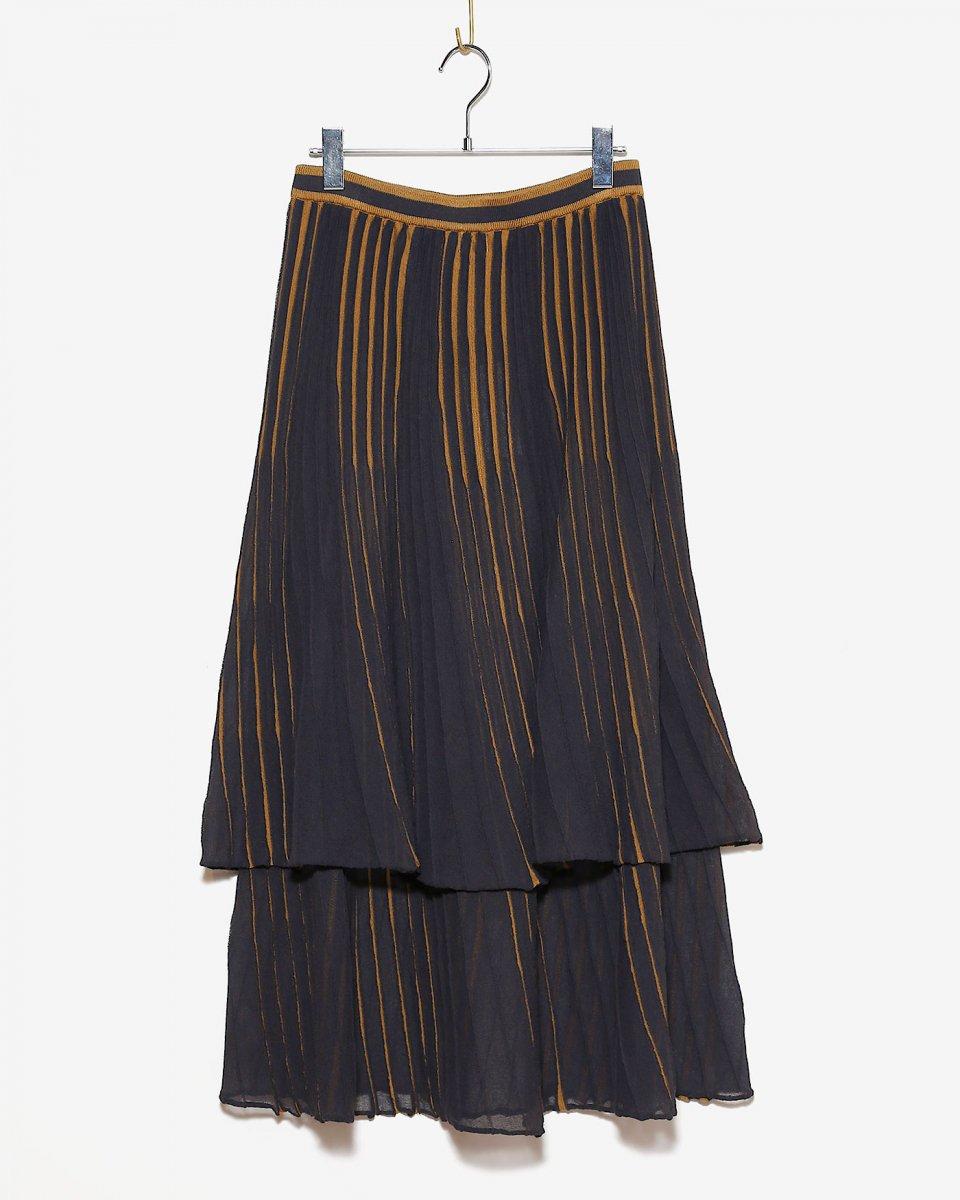babaco ダブルレイヤーランダムプリーツスカート - ¥42,900