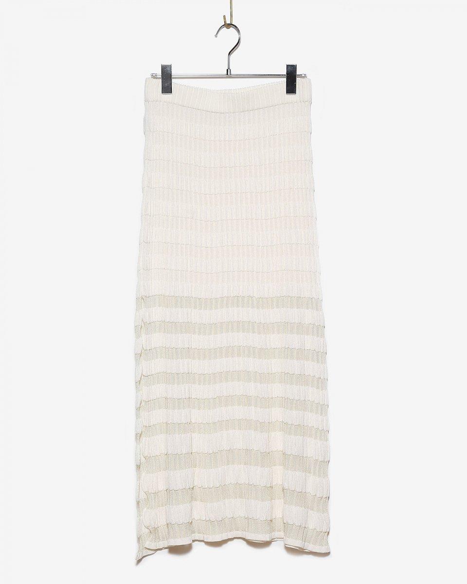 babaco サマーリブロングスカート アイボリー - ¥26,180