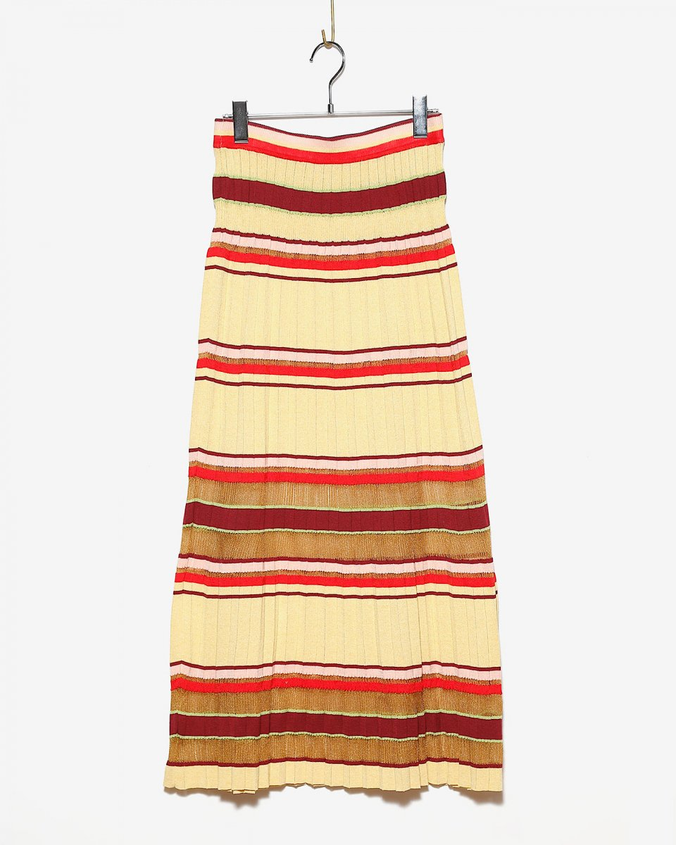 babaco マルチストライププリーツスカート - ¥46,200