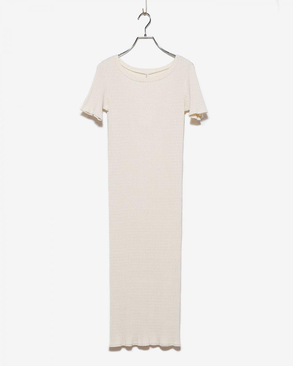 babaco コットンリブロングTシャツドレス アイボリー - ¥10,780