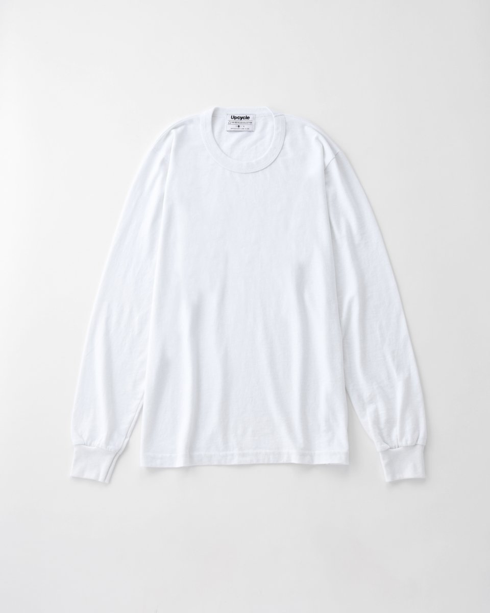 UPCYCLE ロングTシャツ 白 - ¥5,390