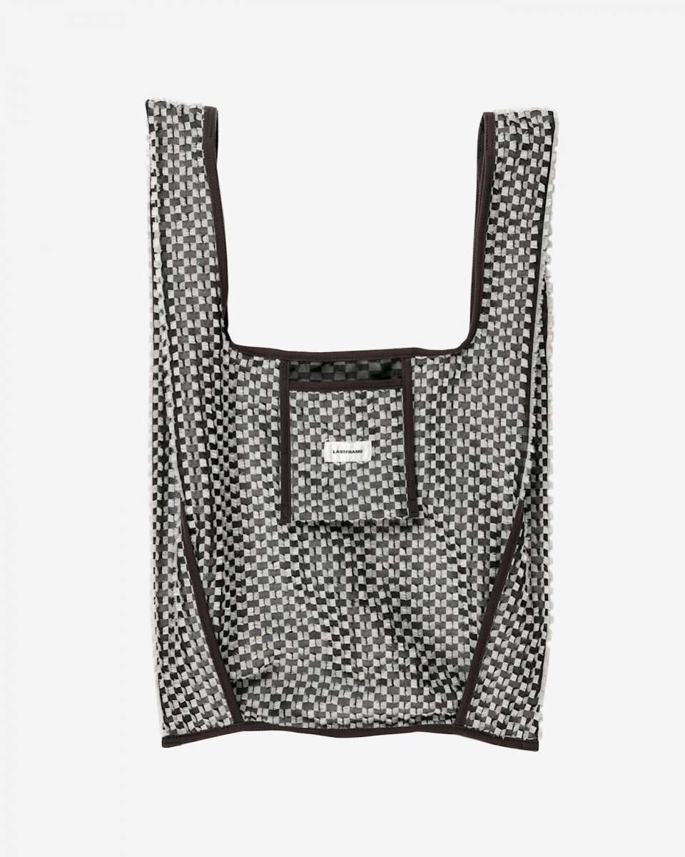 LAST FRAME ジャガード万能バッグ アイボリー x 黒 - ¥19,800