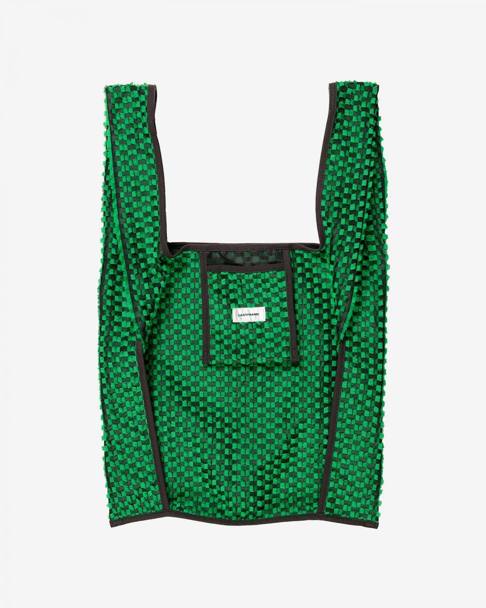 LAST FRAME ジャガード万能バッグ グリーン x 黒 - ¥19,800