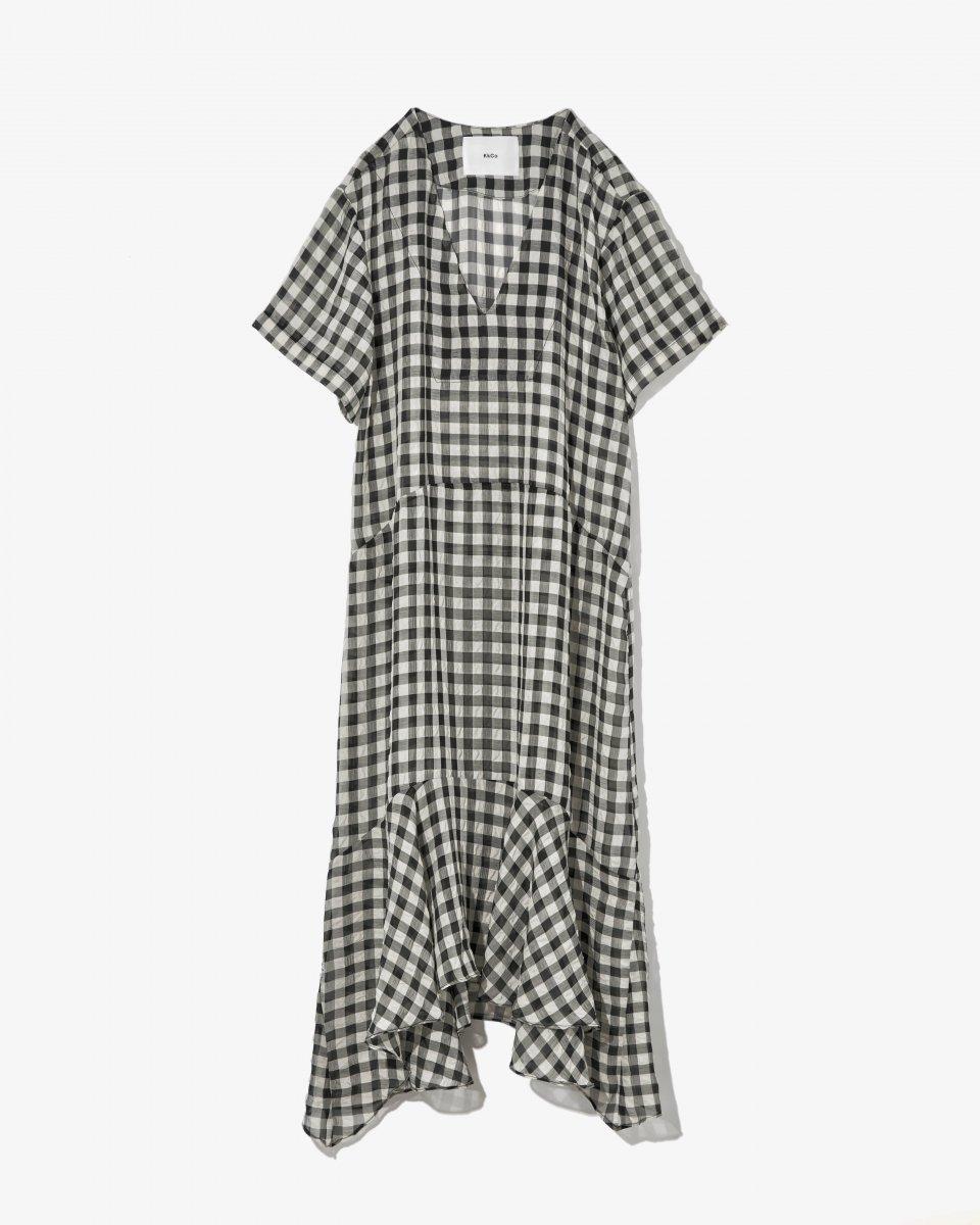 シアーチェックドレス - ¥38,500