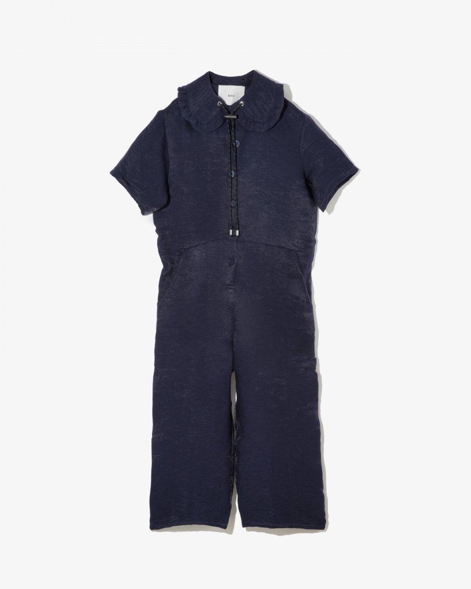 オーバーサイズ ジャンプスーツ ネイビー - ¥35,200