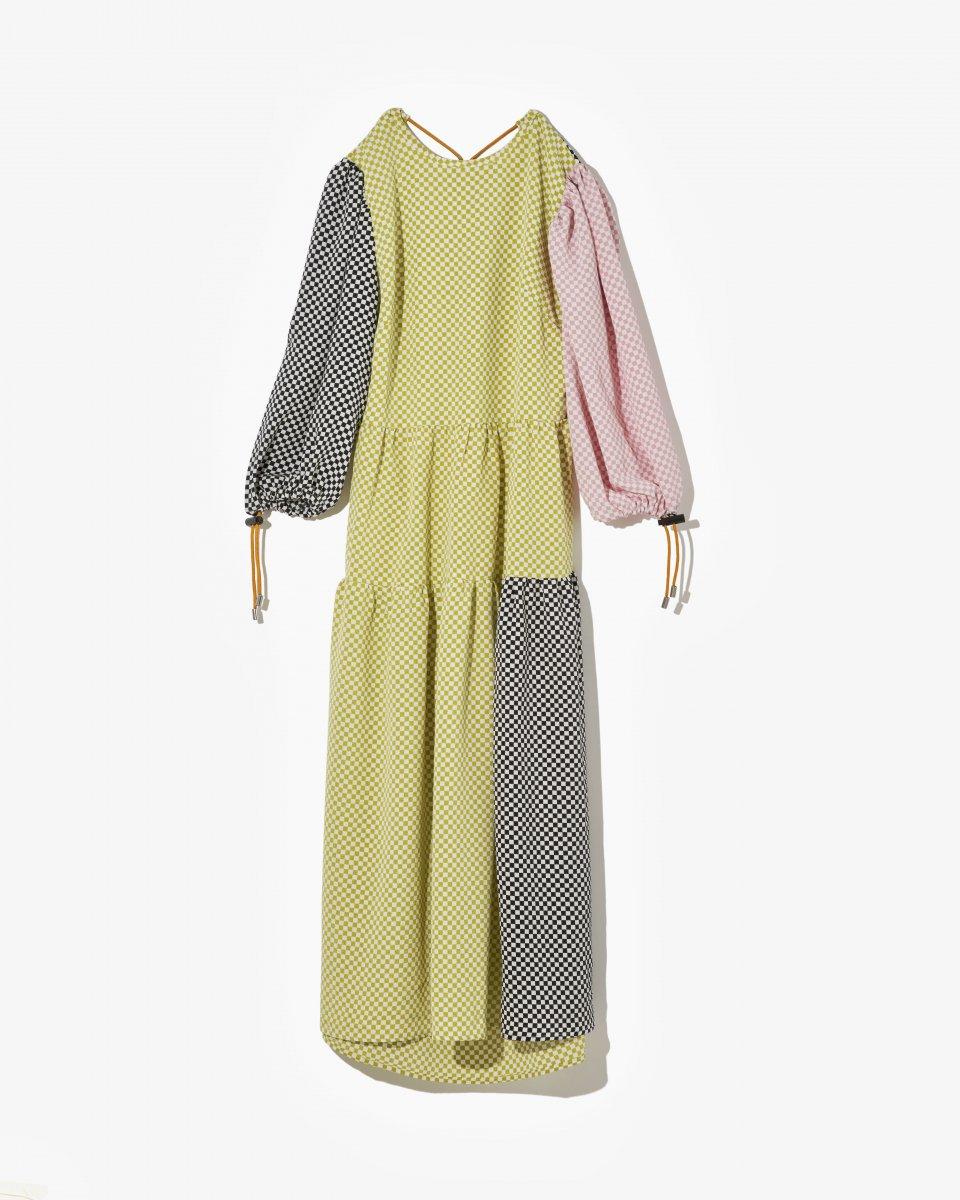 ミックスチェッカードレス - ¥40,700