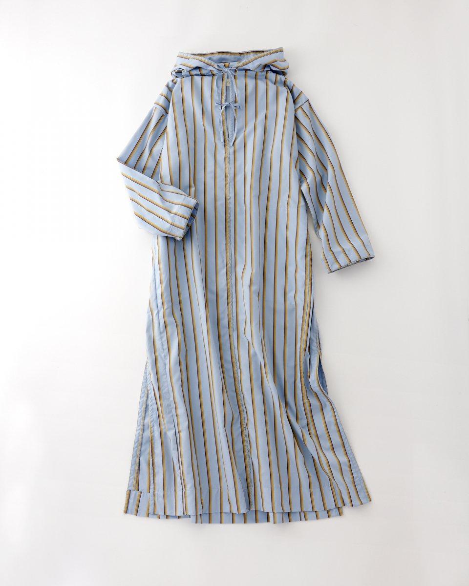 WRYHT フーディーストライプドレス ライトブルー - ¥52,800