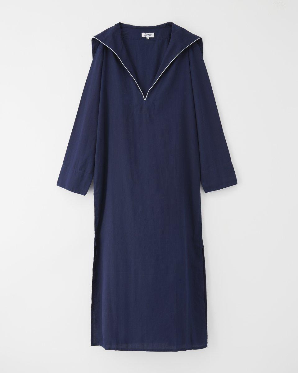 セーラーロングシャツドレス ネイビー - ¥20,900