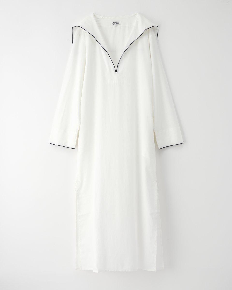 セーラーロングシャツドレス 白 - ¥20,900