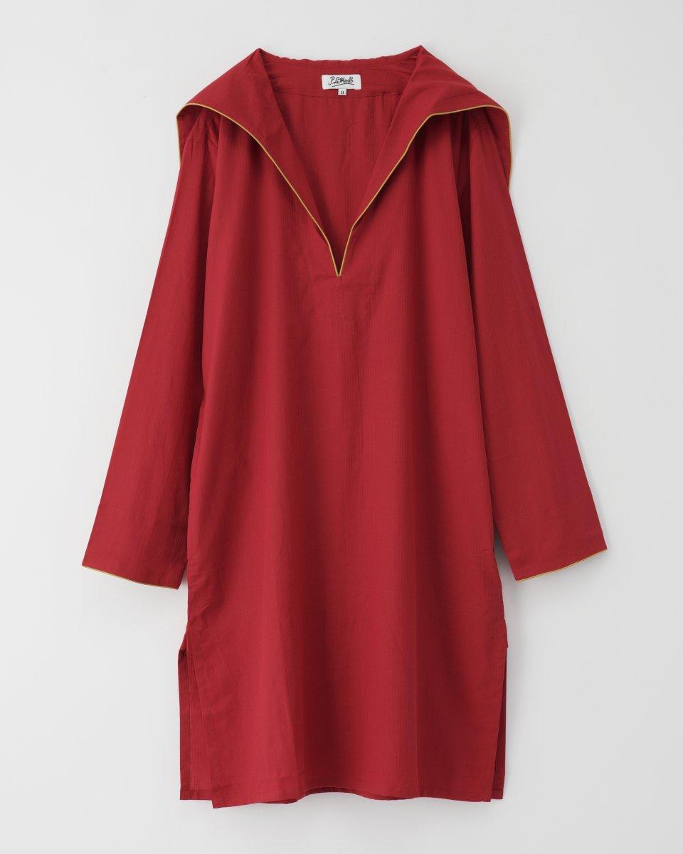 セーラーシャツドレス 赤 - ¥19,800