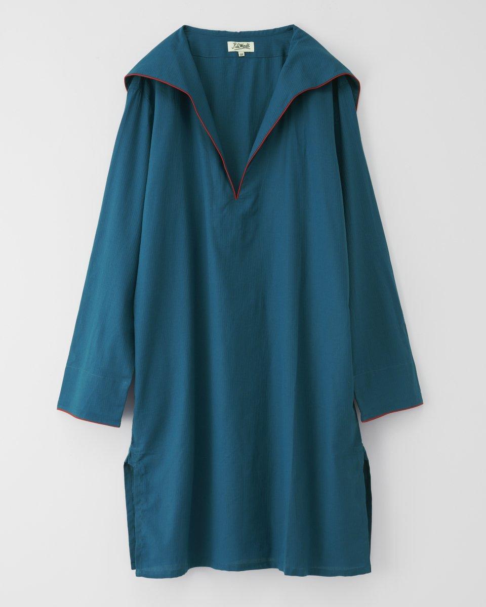 セーラーシャツドレス マリンブルー - ¥19,800