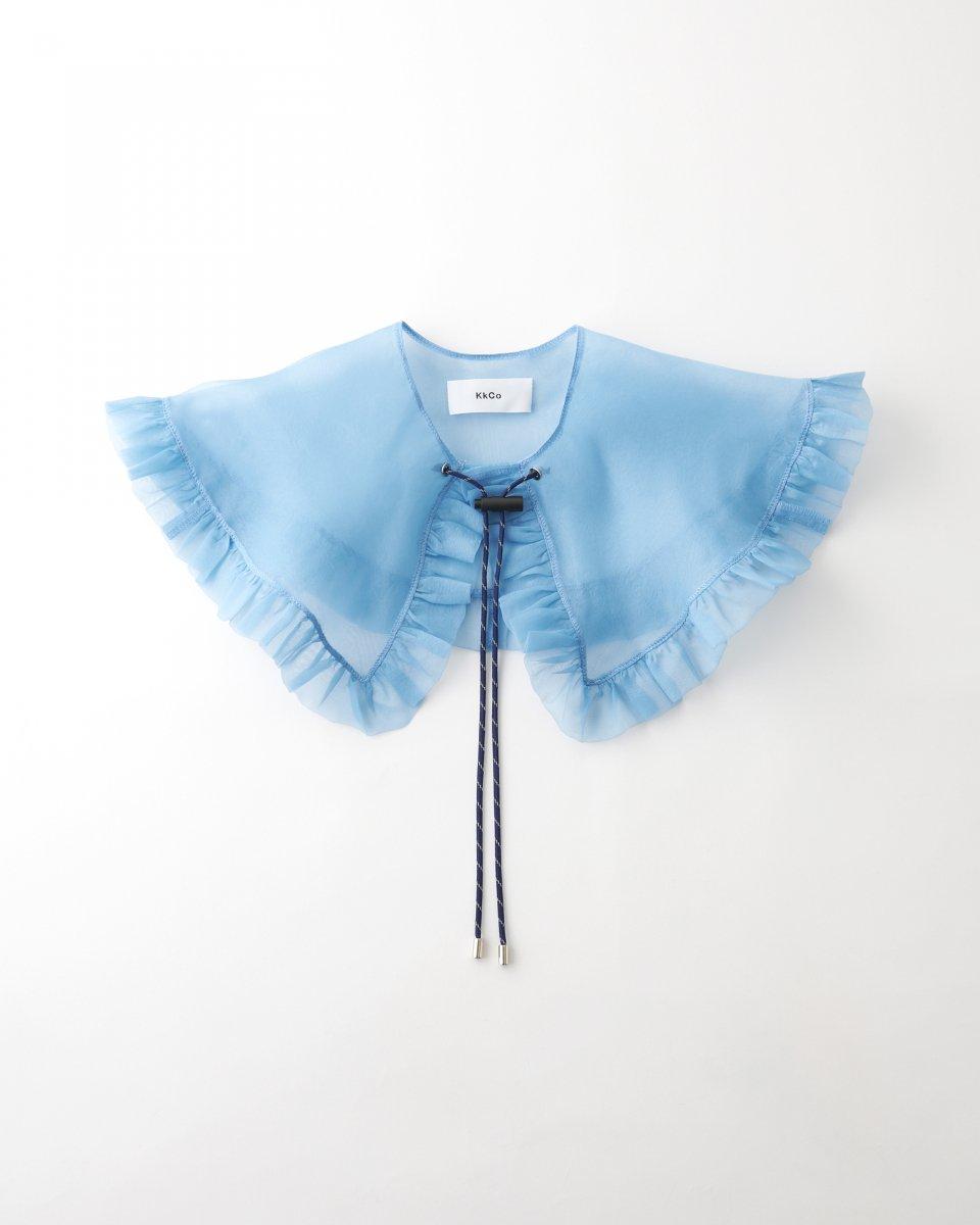 新色!つけ襟 オーガンジー 水色 - ¥8,800