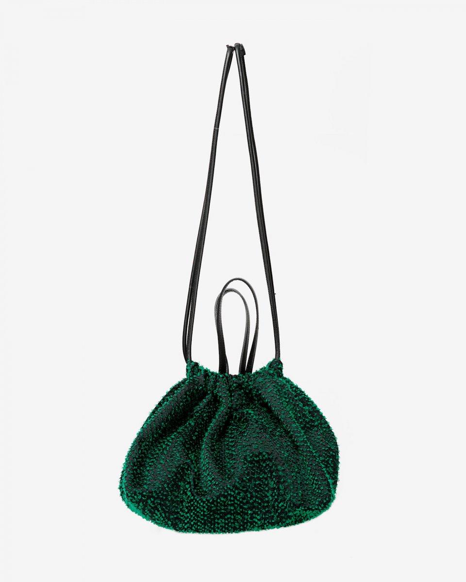 LASTFRAME ニードルパンチ巾着トートバッグ グリーン - ¥25,300