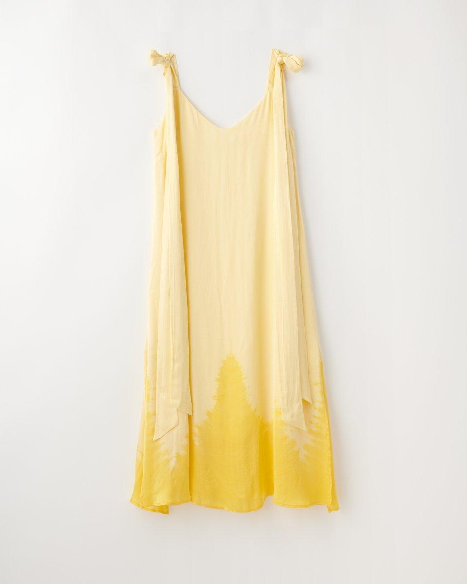 ディップダイスリップドレス イエロー - ¥27,500