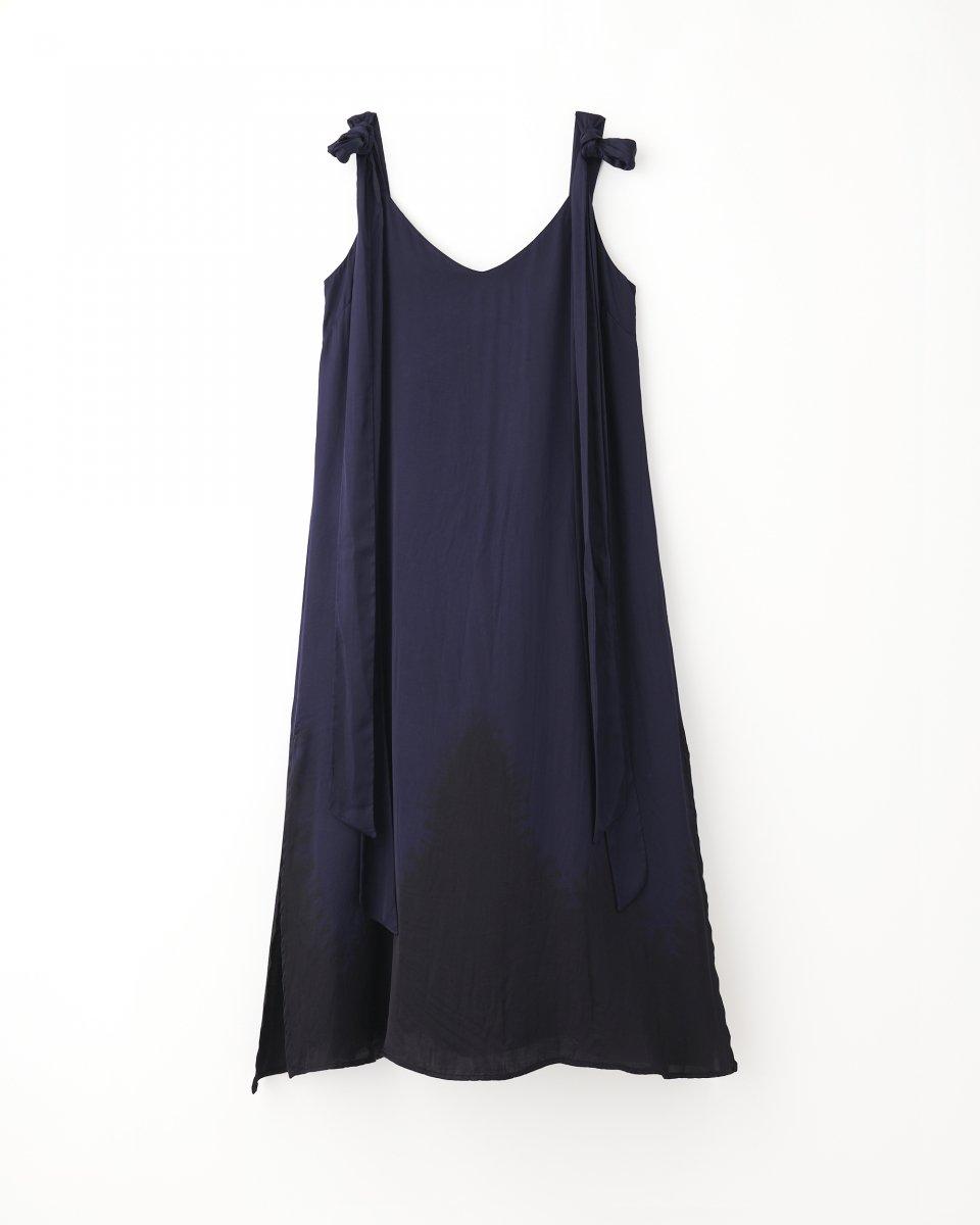 THE SHE限定 ディップダイスリップドレス ネイビー+ブラック - ¥27,500