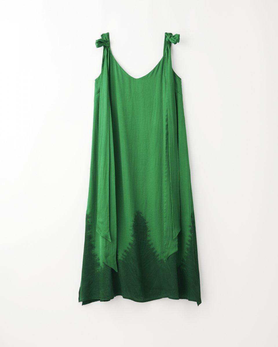 ディップダイスリップドレス グリーン - ¥27,500