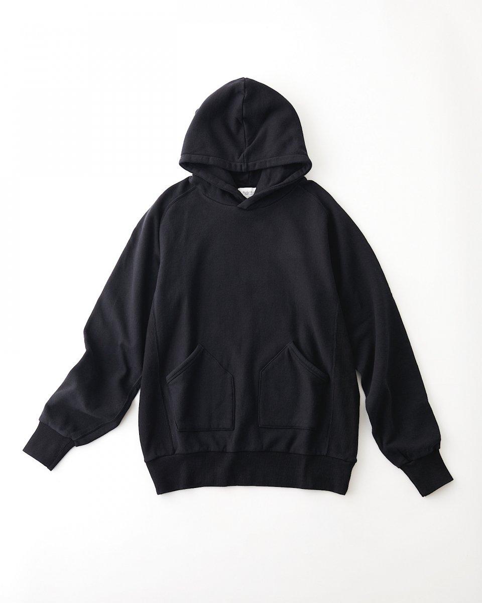 FLISTFIA オーバーサイズフーディー マットブラック - ¥18,700