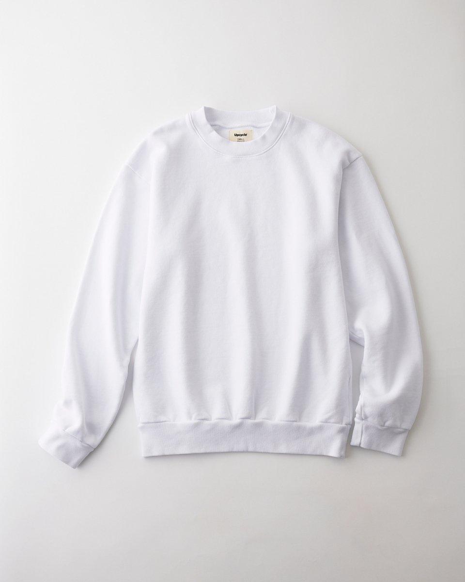 UPCYCLE スウェット クルーネック ピュアホワイト - ¥12,100