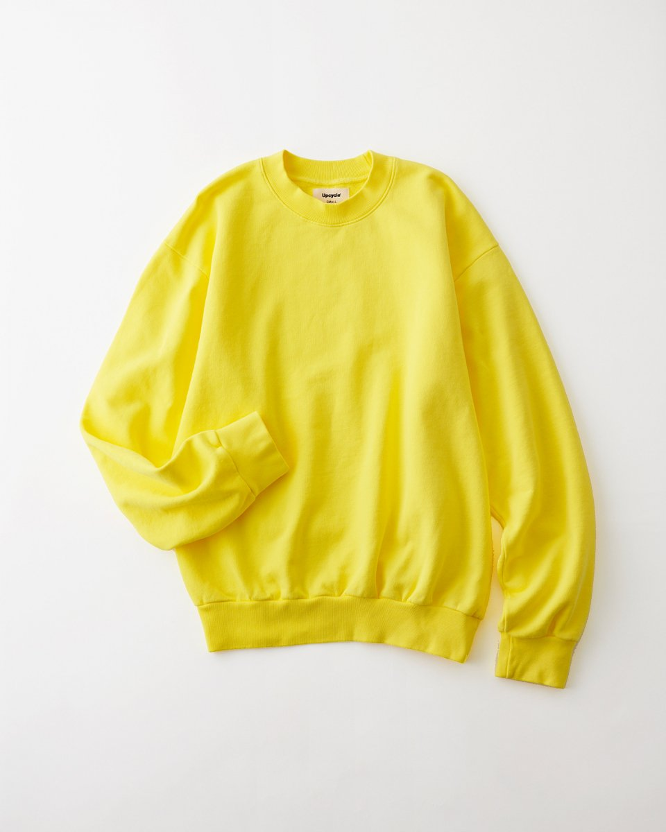 UPCYCLE スウェット クルーネック イエロー - ¥12,100