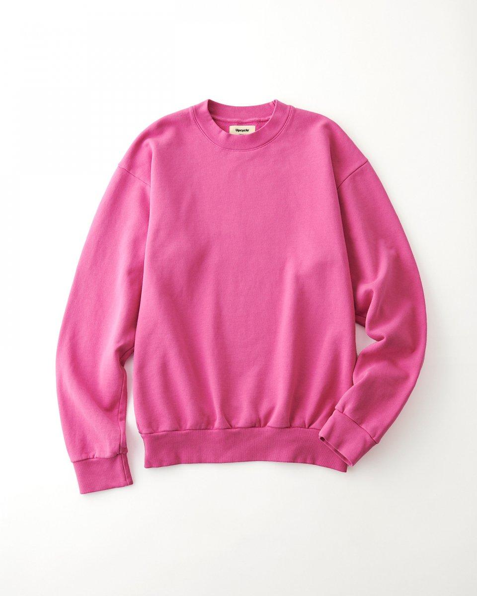 UPCYCLE スウェット クルーネック ピンク - ¥12,100