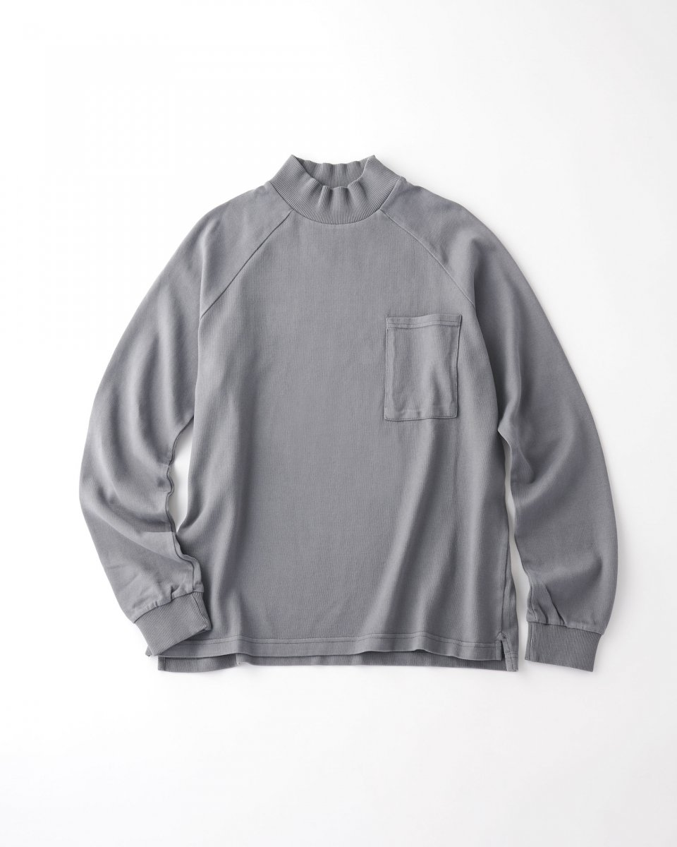 unfeigned モックネックロングTシャツ ミドルグレー - ¥16,500