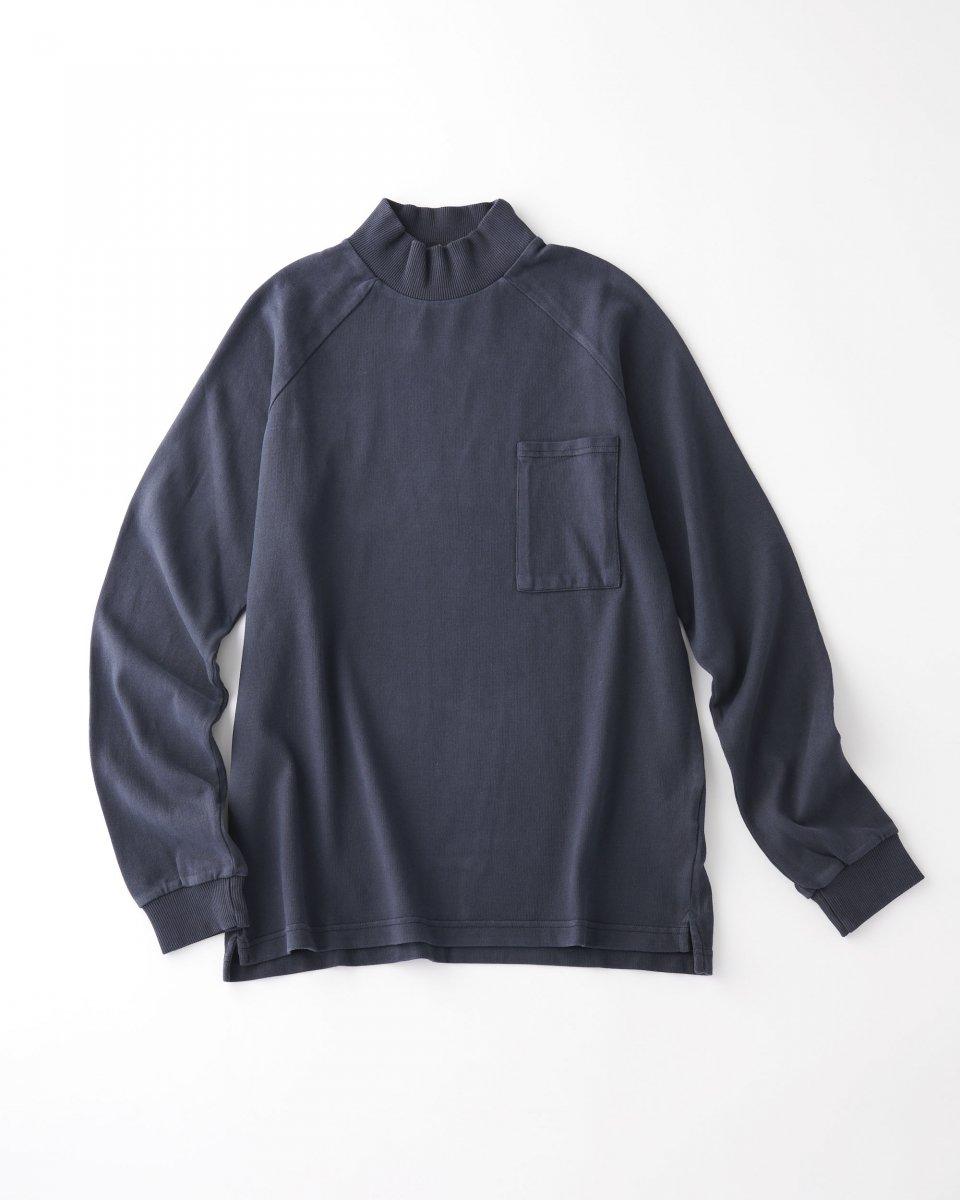 unfeigned モックネックロングTシャツ ネイビーグレー - ¥16,500