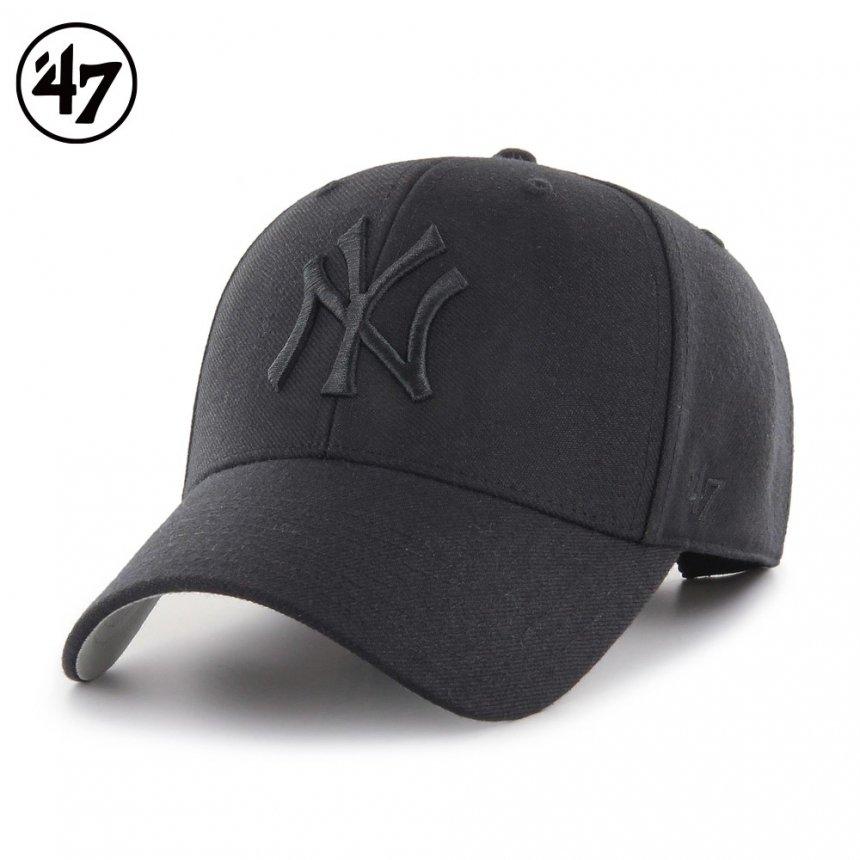 ヤンキース キャップ '47 エムブイピー ブラックxブラックロゴ