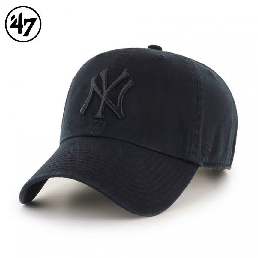 ヤンキース キャップ ブラックトーナル '47 クリーンナップ ブラック