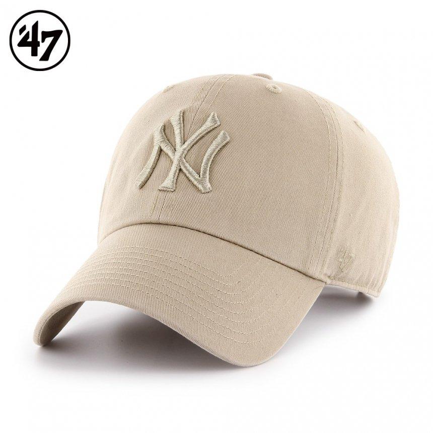 ヤンキース キャップ トーナル '47 クリーンナップ カーキ