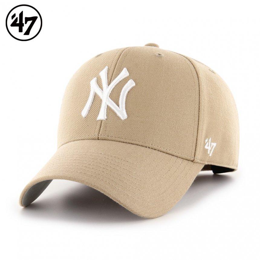 ヤンキース キャップ '47 エムブイピー カーキ x ホワイトロゴ