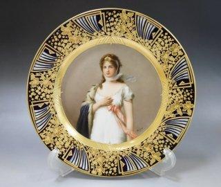 オーストリア ヴィエナ 「皇妃マリー・ルイーズ」24cm プレート