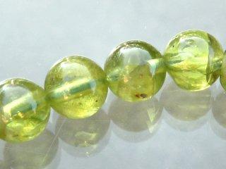 天然石 ペリドット 5.5mm ブレスレット  per05.5001