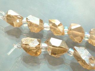 【1粒売り】 ダイヤモンドクリスタル ゴールドオーラ (M) 6.5-8x3.5-5x3.5-5mm dia_pt_M_g