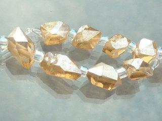 【1粒売り】 ダイヤモンドクリスタル ゴールドオーラ (S) 4-6x3-5x3-5mm dia_pt_S_g